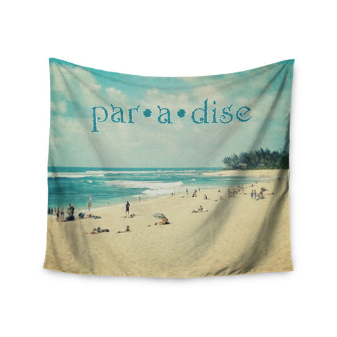 "Sylvia Cook ""Paradise"" Tan Blue Wall Tapestry - KESS InHouse  - 1"