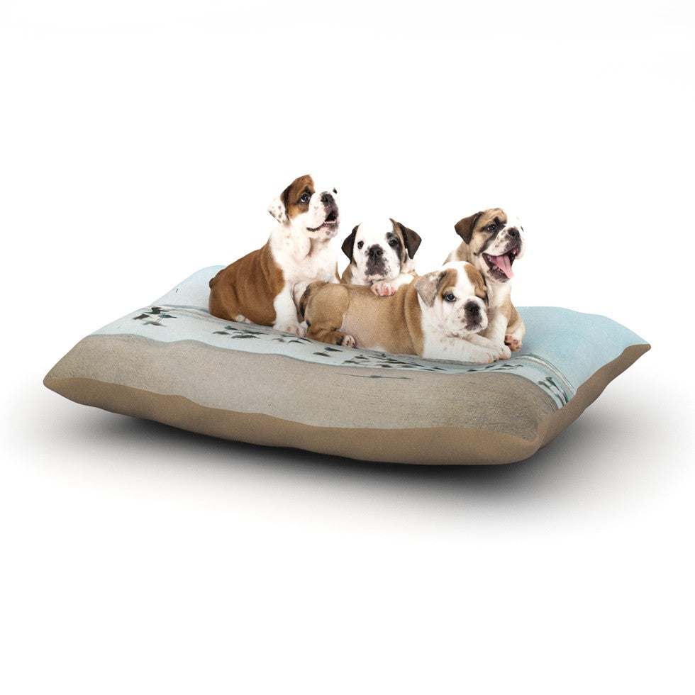 "Sylvia Cook ""Sea Blue"" Coastal Dog Bed - KESS InHouse  - 1"