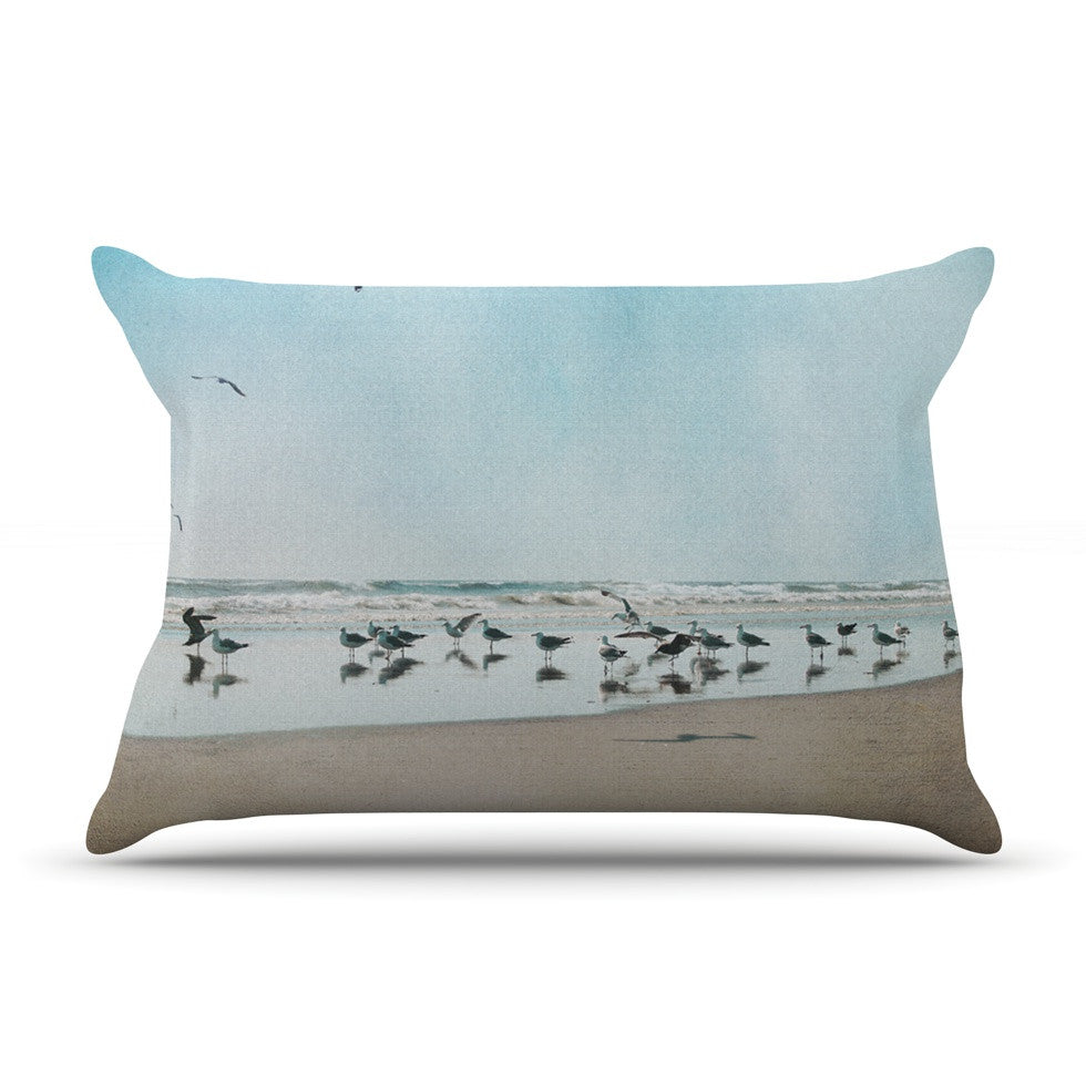 "Sylvia Cook ""Sea Blue"" Coastal Pillow Sham - KESS InHouse"