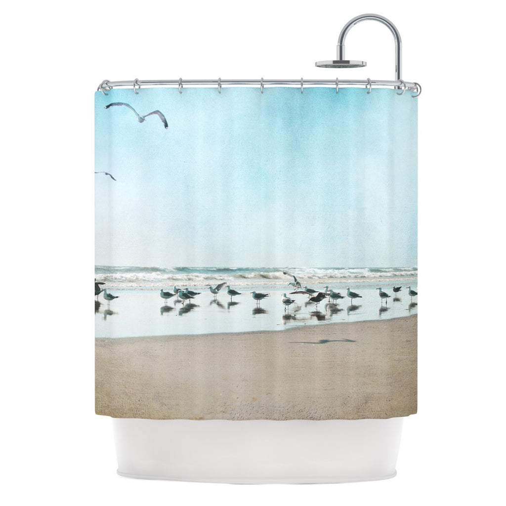 "Sylvia Cook ""Sea Blue"" Coastal Shower Curtain - KESS InHouse"
