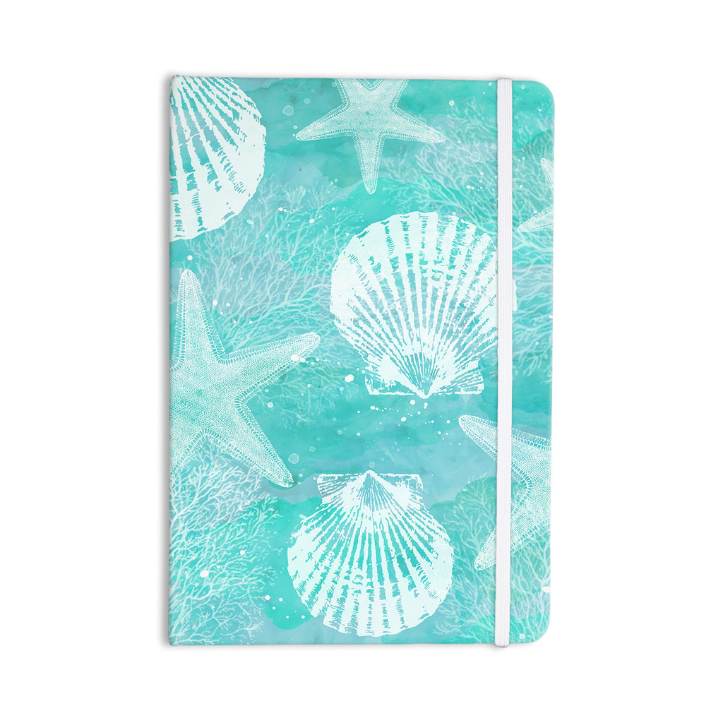 "Sylvia Cook ""Seaside"" Blue Teal Everything Notebook - KESS InHouse  - 1"