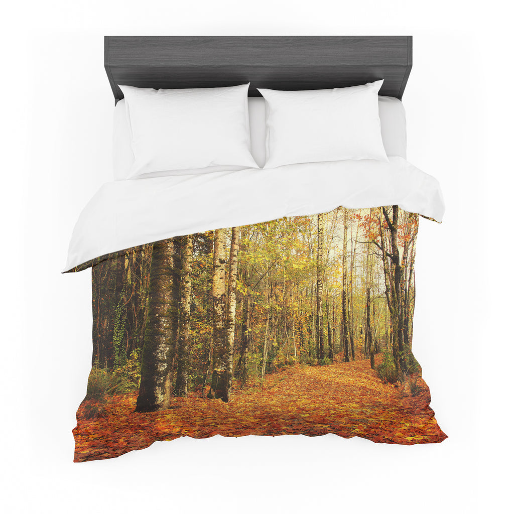 "Sylvia Cook ""Autumn Leaves"" Rustic Featherweight Duvet Cover"