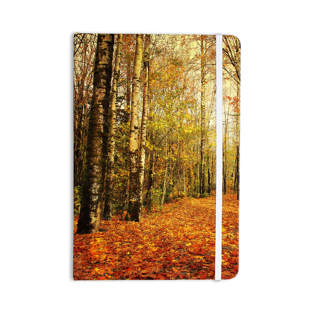 "Sylvia Cook ""Autumn Leaves"" Rustic Everything Notebook - KESS InHouse  - 1"