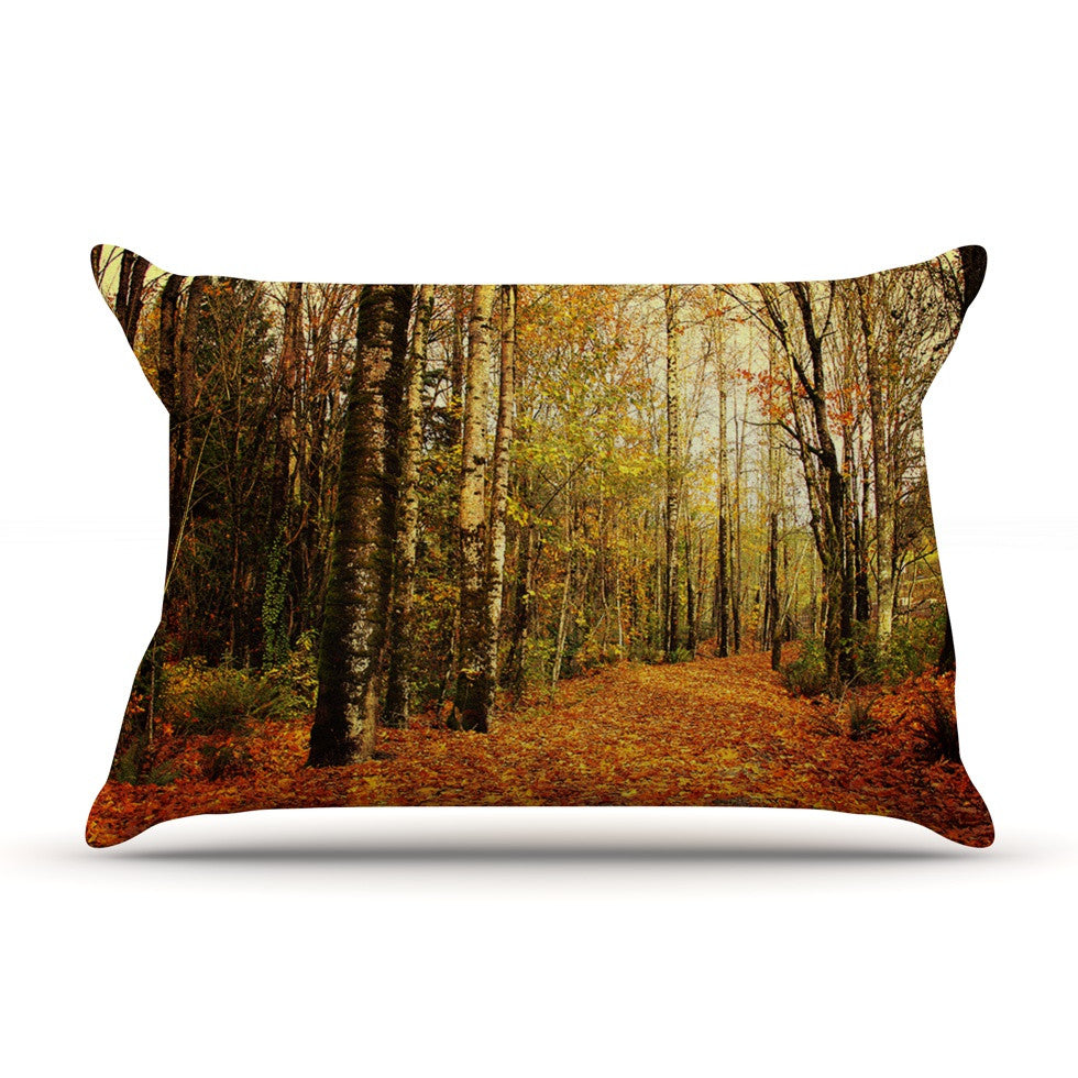 "Sylvia Cook ""Autumn Leaves"" Rustic Pillow Sham - KESS InHouse"