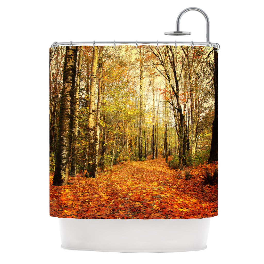 Autumn Leaves Shower Curtain by Sylvia Cook | KESS InHouse