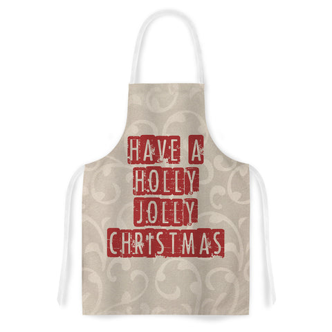 "Sylvia Cook ""Have a Holly Jolly Christmas"" Holiday Artistic Apron - Outlet Item"