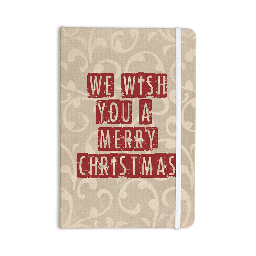 "Sylvia Cook ""We Wish You A Merry Christmas"" Holiday Everything Notebook - KESS InHouse  - 1"
