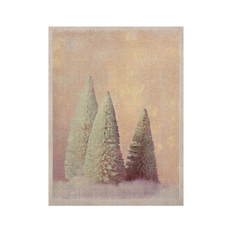 "Sylvia Cook ""Bottle Brush Trees"" Pink KESS Naturals Canvas (Frame not Included) - KESS InHouse  - 1"