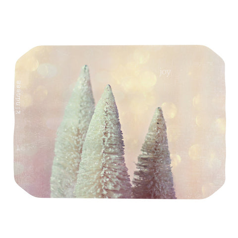 "Sylvia Cook ""Bottle Brush Trees"" Pink Place Mat - KESS InHouse"