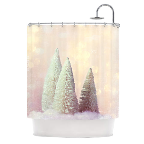 "Sylvia Cook ""Bottle Brush Trees"" Pink Shower Curtain - KESS InHouse"