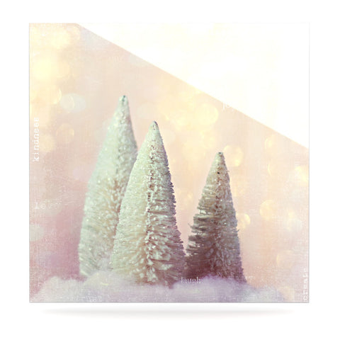 "Sylvia Cook ""Bottle Brush Trees"" Pink Luxe Square Panel - KESS InHouse  - 1"