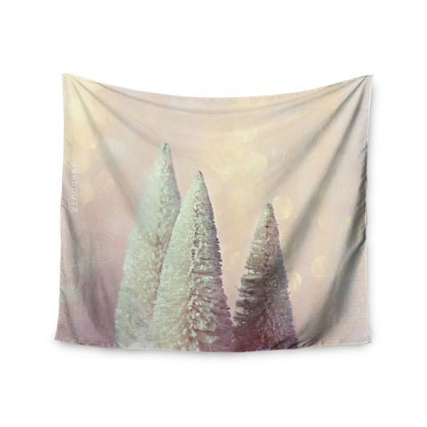 "Sylvia Cook ""Bottle Brush Trees"" Pink Wall Tapestry - KESS InHouse  - 1"