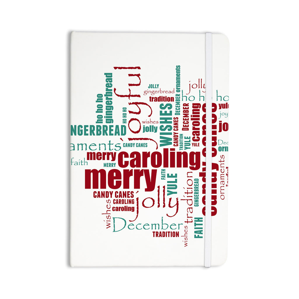 "Sylvia Cook ""Yuletide"" Christmas Typography Everything Notebook - KESS InHouse  - 1"