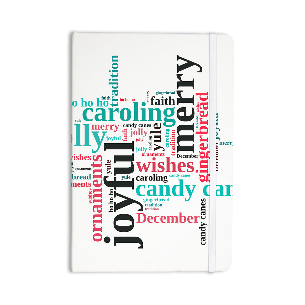 "Sylvia Cook ""Holiday Traditions"" Christmas Typography Everything Notebook - KESS InHouse  - 1"