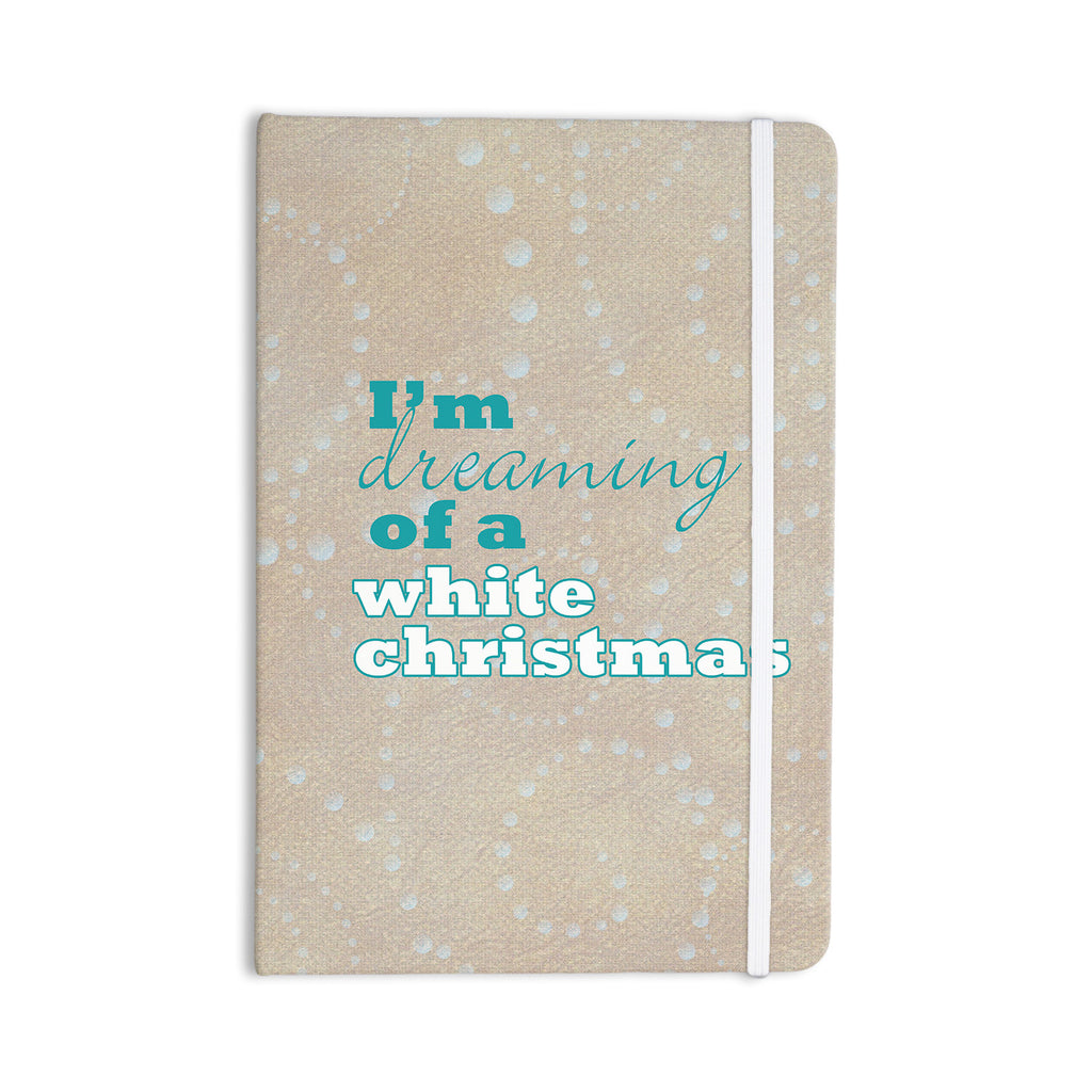 "Sylvia Cook ""White Christmas"" Brown Teal Everything Notebook - KESS InHouse  - 1"