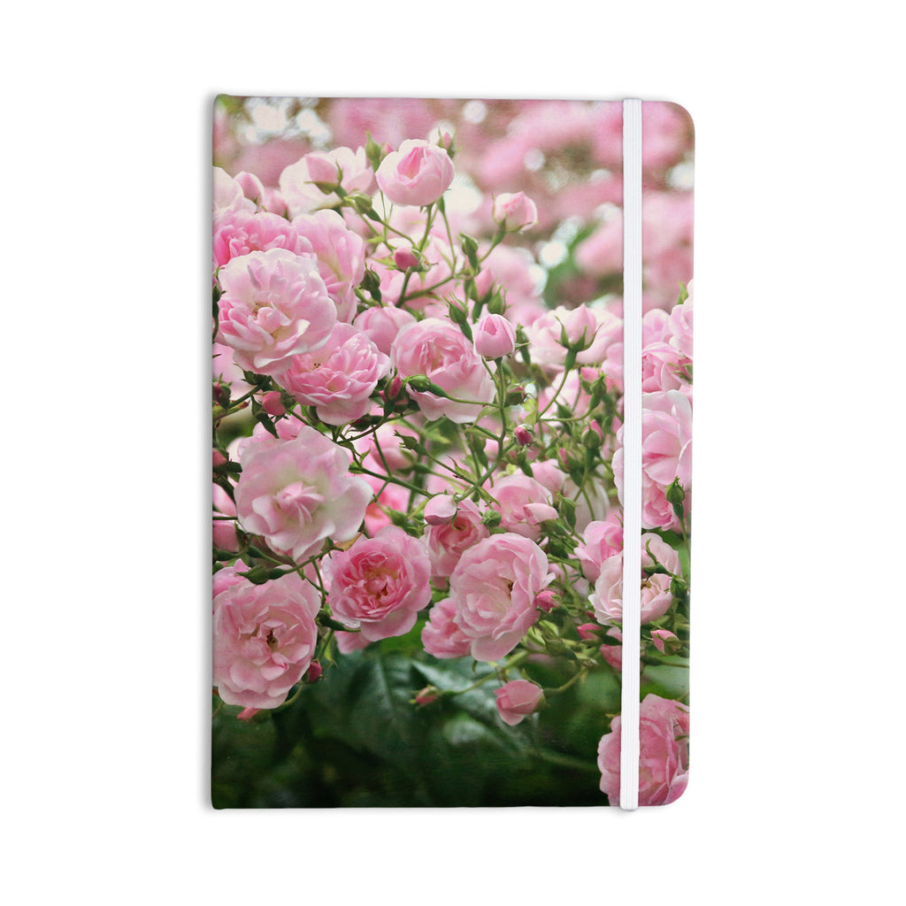 "Sylvia Cook ""The Fairy Rose"" Pink Floral Everything Notebook - KESS InHouse  - 1"