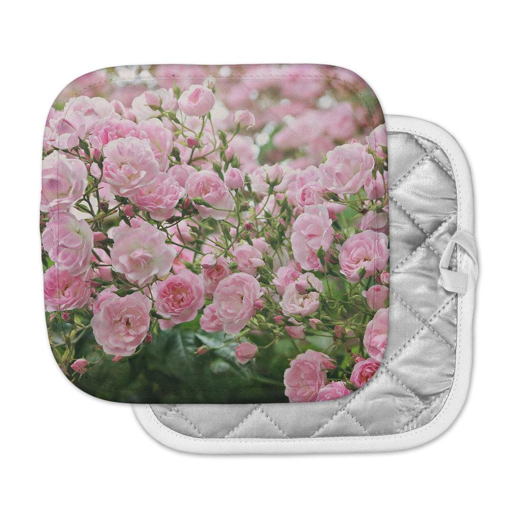 "Sylvia Cook ""The Fairy Rose"" Pink Floral Pot Holder"