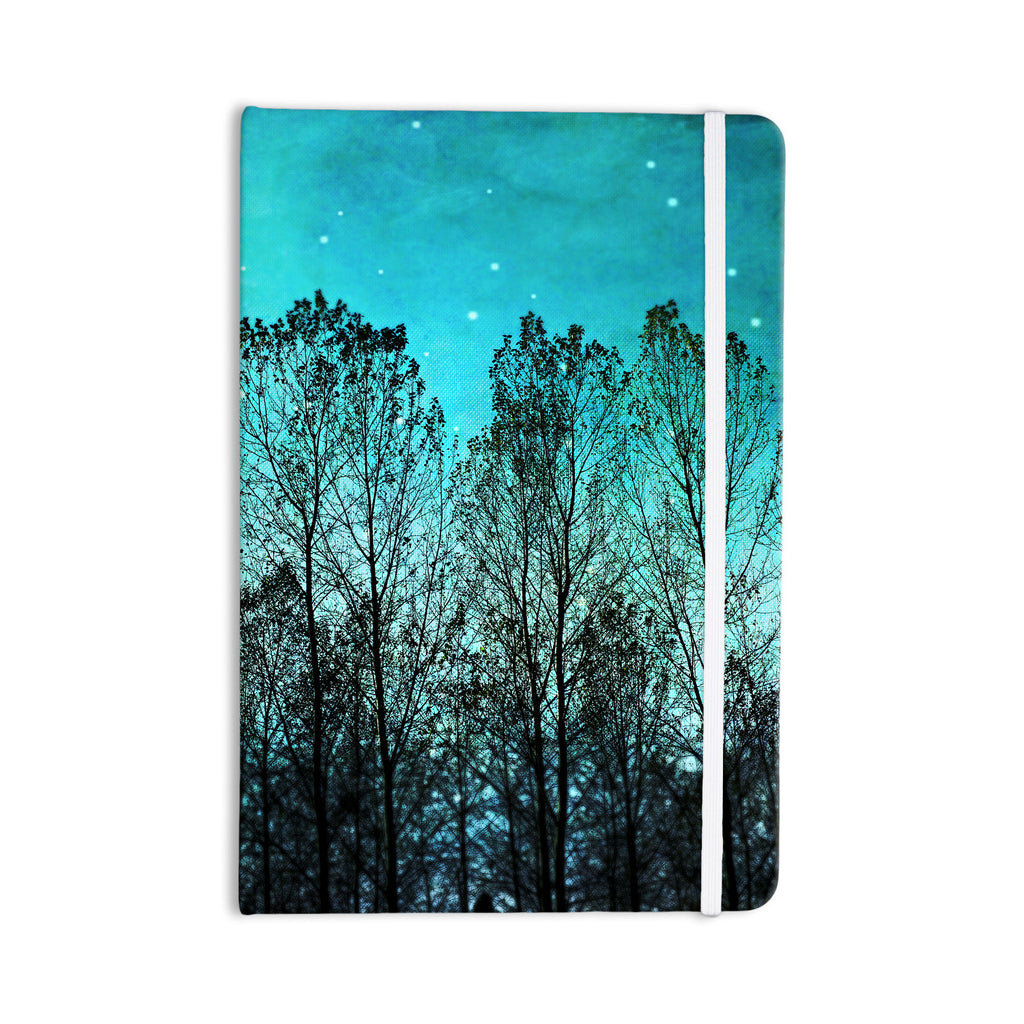 "Sylvia Cook ""Dark Forest"" Blue Trees Everything Notebook - KESS InHouse  - 1"