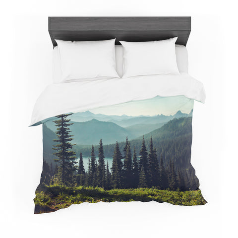 "Sylvia Cook ""DisCover - Outlet Item Your Northwest"" Landscape Featherweight Duvet Cover - Outlet Item - KESS InHouse"