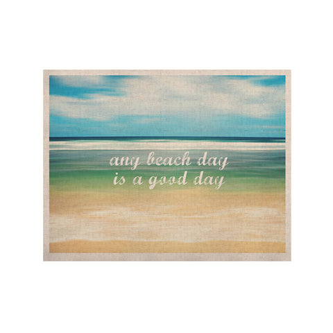 "Sylvia Cook ""Any Beach Day"" Coastal Typography KESS Naturals Canvas (Frame not Included) - KESS InHouse  - 1"