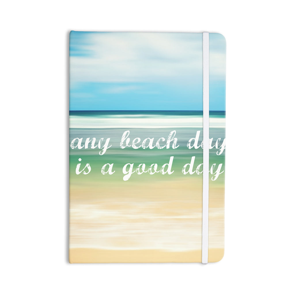 "Sylvia Cook ""Any Beach Day"" Coastal Typography Everything Notebook - KESS InHouse  - 1"