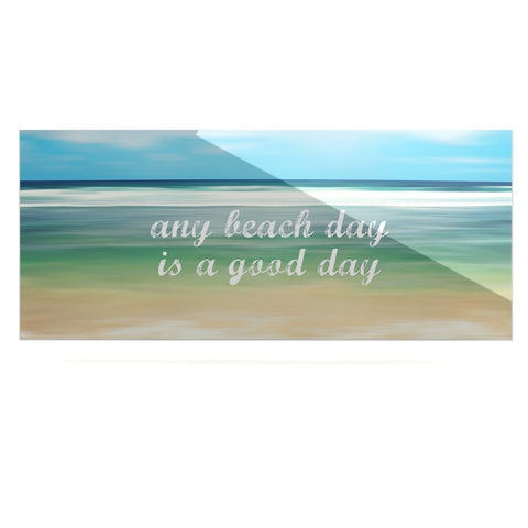 "Sylvia Cook ""Any Beach Day"" Coastal Typography Luxe Rectangle Panel - KESS InHouse  - 1"