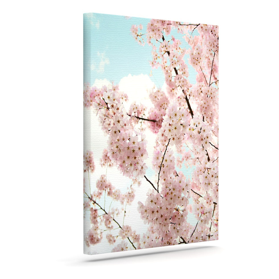 "Sylvia Cook ""Spring Beauty"" Pink Blue Canvas Art - KESS InHouse  - 1"
