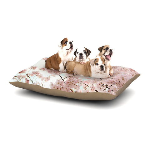 "Sylvia Cook ""Spring Beauty"" Pink Blue Dog Bed - KESS InHouse  - 1"