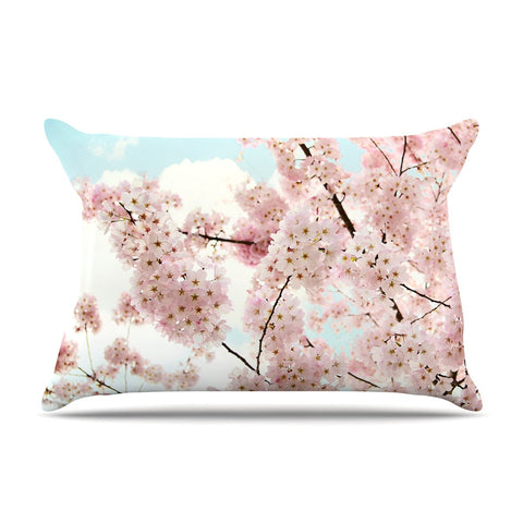 "Sylvia Cook ""Spring Beauty"" Pink Blue Pillow Sham - KESS InHouse"