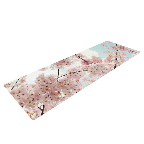 "Sylvia Cook ""Spring Beauty"" Pink Blue Yoga Mat - KESS InHouse  - 1"