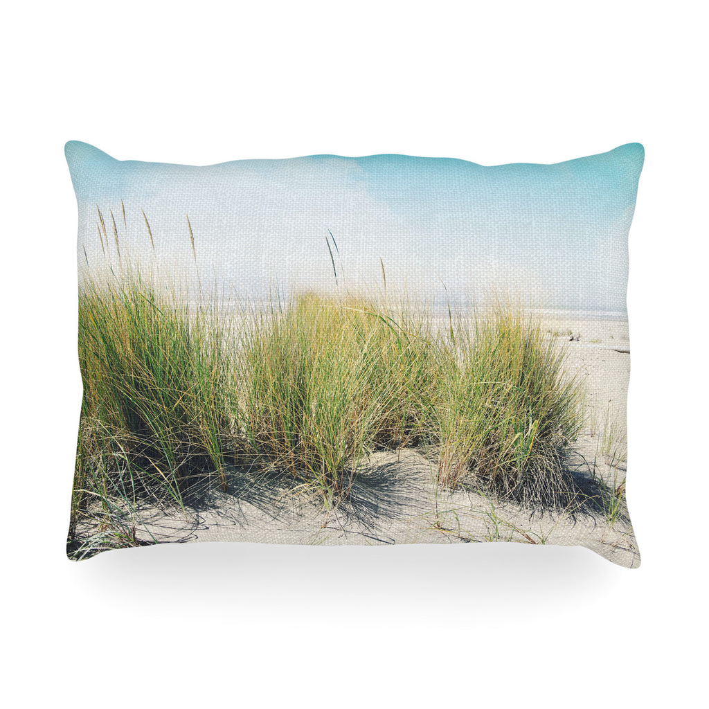 "Sylvia Cook ""Dune Grass"" Coastal Photography Oblong Pillow"