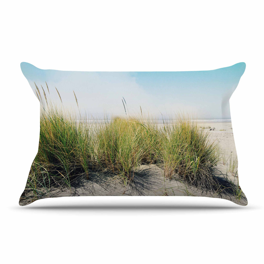 "Sylvia Cook ""Dune Grass"" Coastal Photography Pillow Sham - KESS InHouse"