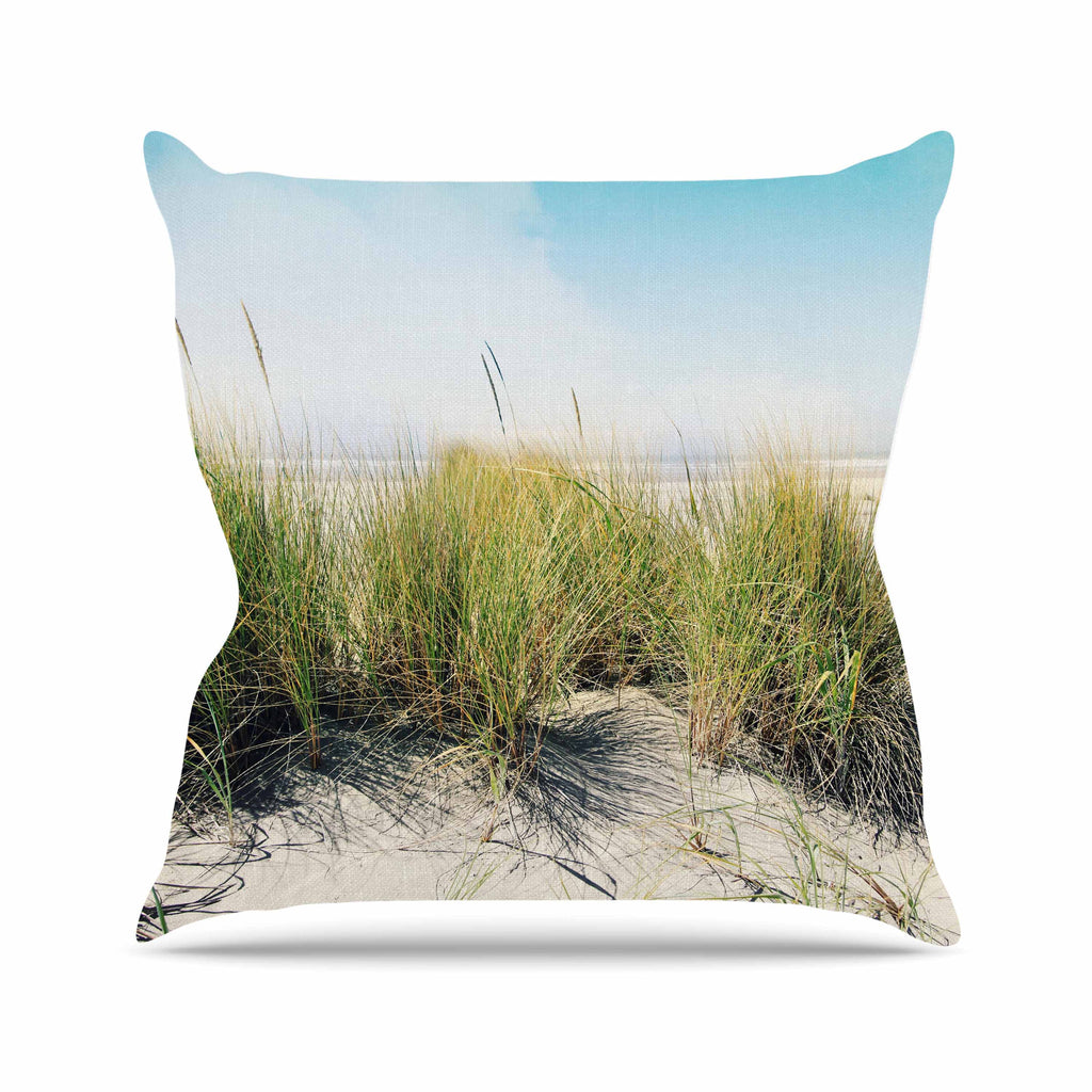 "Sylvia Cook ""Dune Grass"" Coastal Photography Outdoor Throw Pillow - KESS InHouse  - 1"