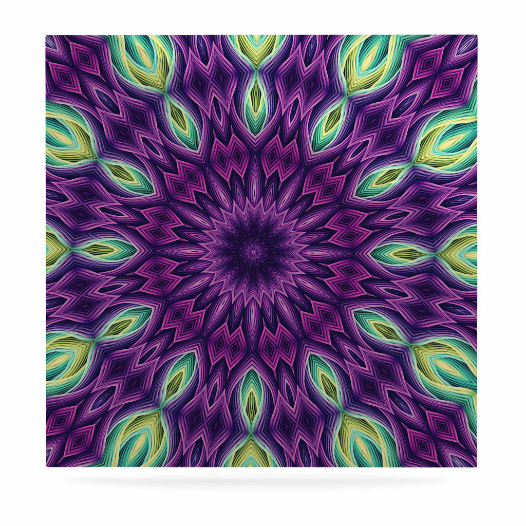 "Sylvia Cook ""Zapped - Purple"" Purple Green Luxe Square Panel - KESS InHouse  - 1"