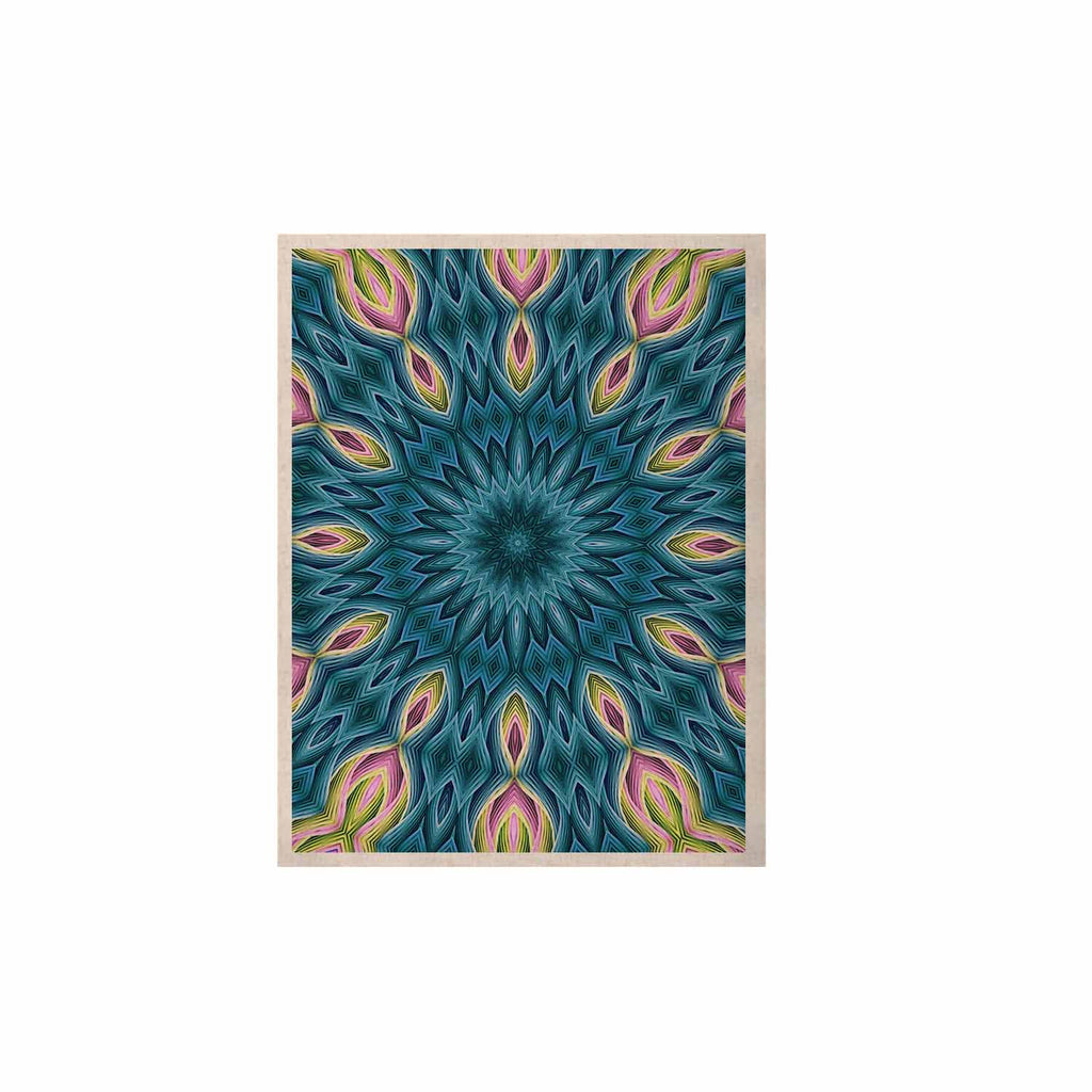 "Sylvia Cook ""Zapped Teal"" Blue Teal KESS Naturals Canvas (Frame not Included) - KESS InHouse  - 1"