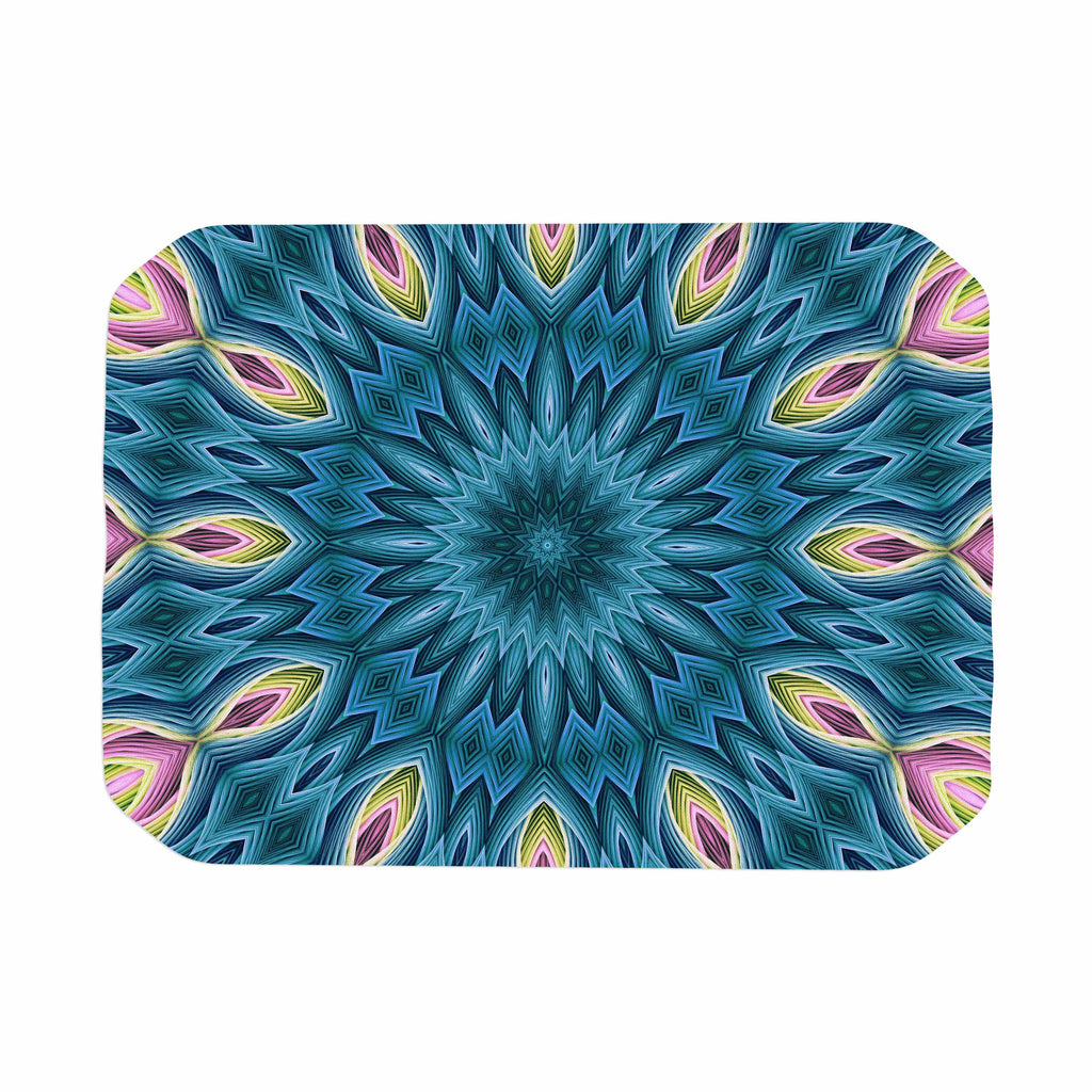 "Sylvia Cook ""Zapped Teal"" Blue Teal Place Mat - KESS InHouse"