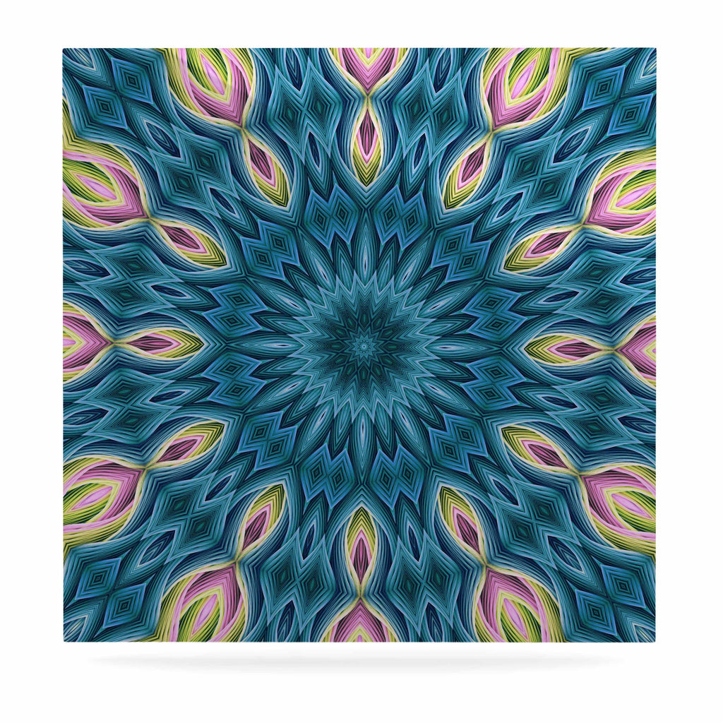 "Sylvia Cook ""Zapped Teal"" Blue Teal Luxe Square Panel - KESS InHouse  - 1"