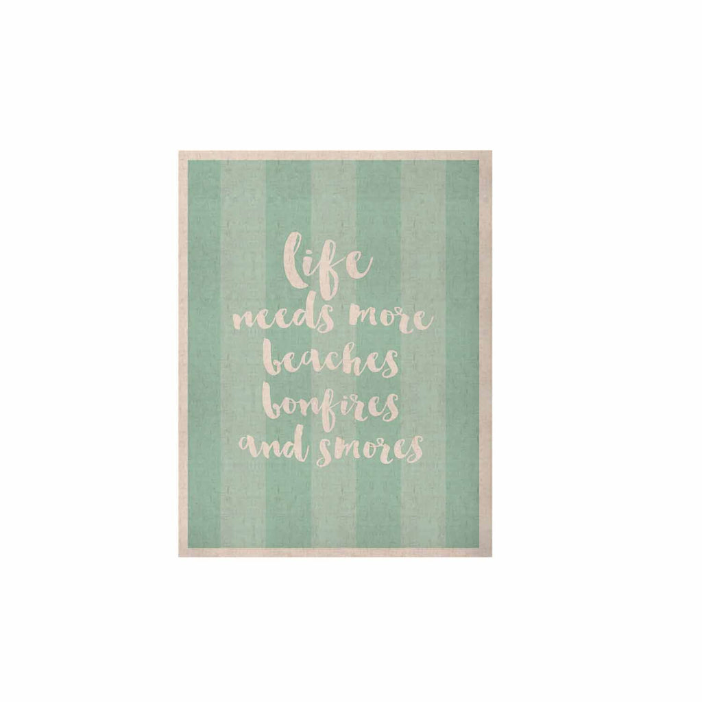 "Sylvia Cook ""Beaches & Bonfires - Mint"" Green Typography KESS Naturals Canvas (Frame not Included) - KESS InHouse  - 1"