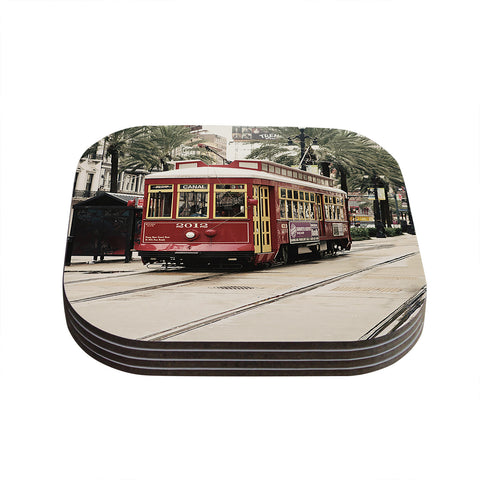 "Sylvia Cook ""Canal Street Car"" Travel Urban Coasters (Set of 4)"