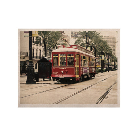 "Sylvia Cook ""Canal Street Car"" Travel Urban KESS Naturals Canvas (Frame not Included) - KESS InHouse  - 1"