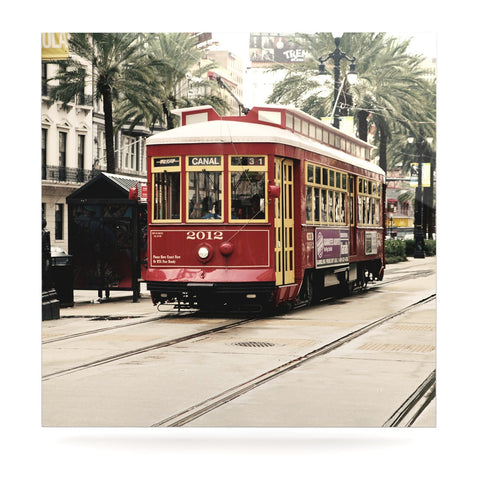 "Sylvia Cook ""Canal Street Car"" Travel Urban Luxe Square Panel - KESS InHouse  - 1"