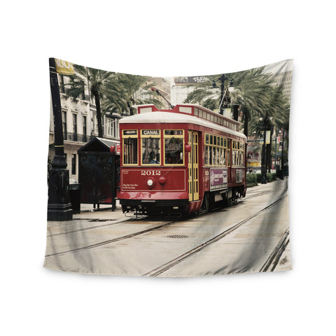 "Sylvia Cook ""Canal Street Car"" Travel Urban Wall Tapestry - KESS InHouse  - 1"