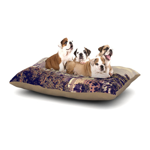 "Sylvia Cook ""Space Needle"" Beige Skyline Dog Bed - KESS InHouse  - 1"