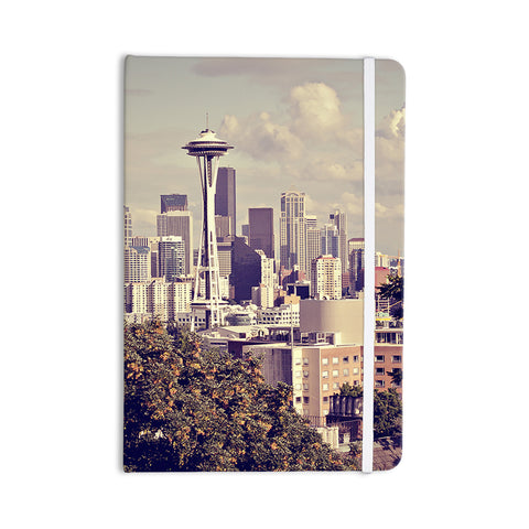 "Sylvia Cook ""Space Needle"" Beige Skyline Everything Notebook - KESS InHouse  - 1"