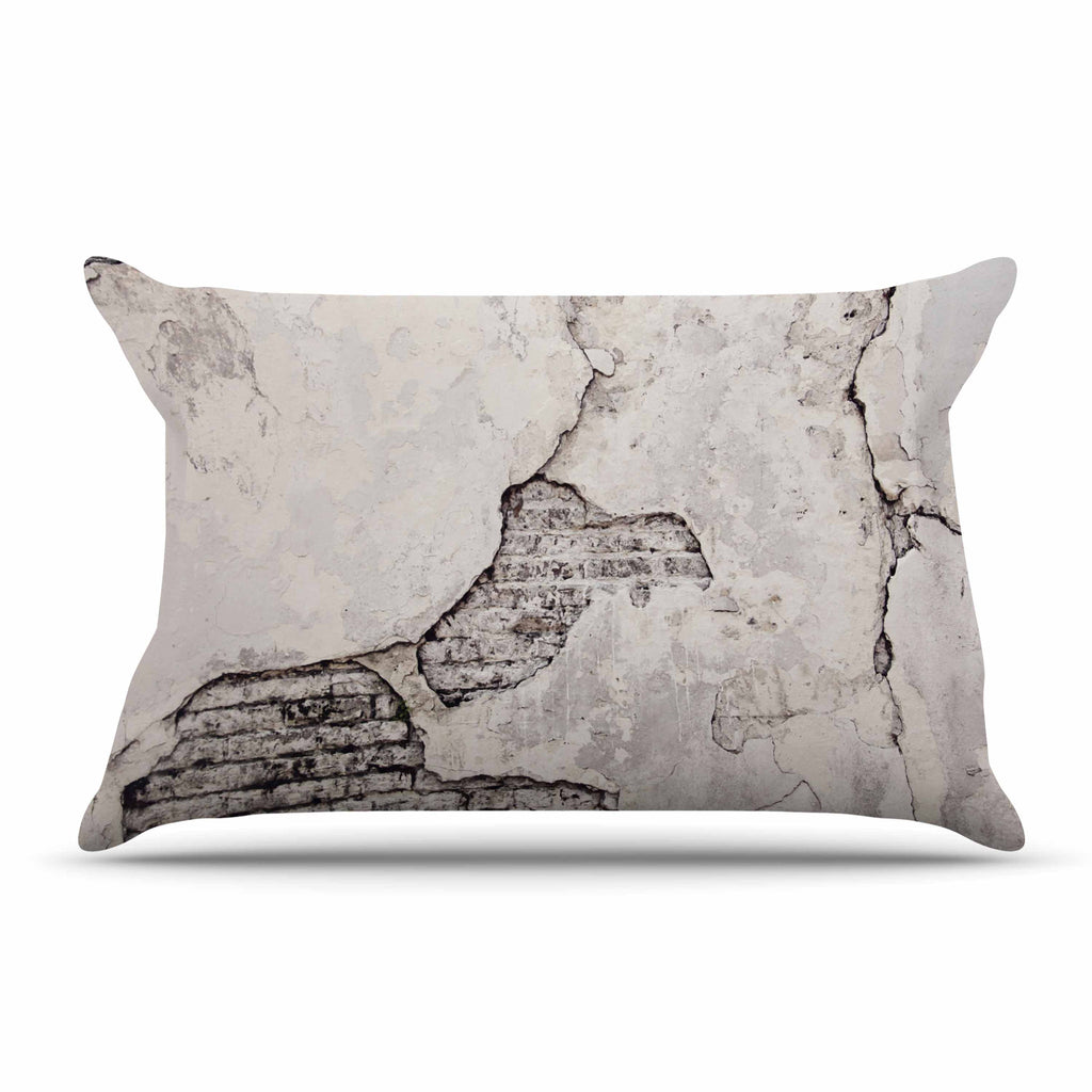 "Sylvia Cook ""Crumbling Wall"" Brown Gray Pillow Sham - KESS InHouse"
