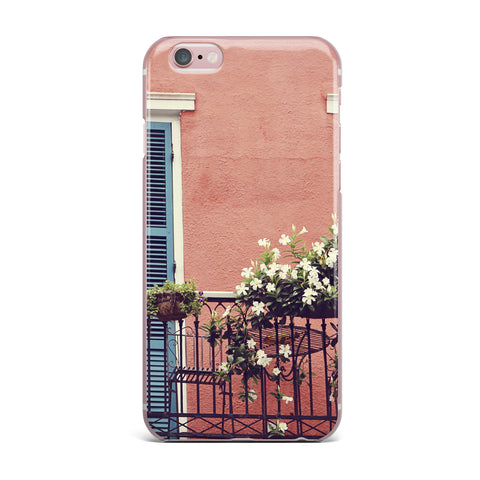 "Sylvia Cook ""New Orleans Balcony"" Pink Blue iPhone Case - KESS InHouse"