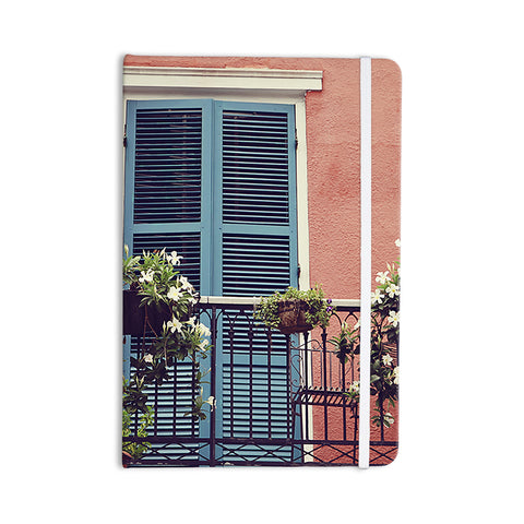 "Sylvia Cook ""New Orleans Balcony"" Pink Blue Everything Notebook - KESS InHouse  - 1"