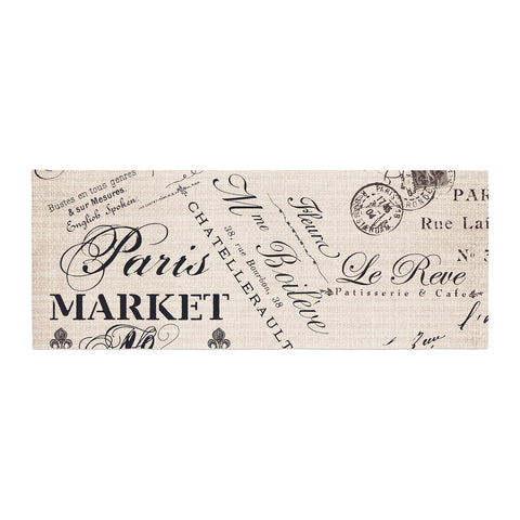 "Sylvia Cook ""French Script"" Handwriting Bed Runner - Outlet Item"