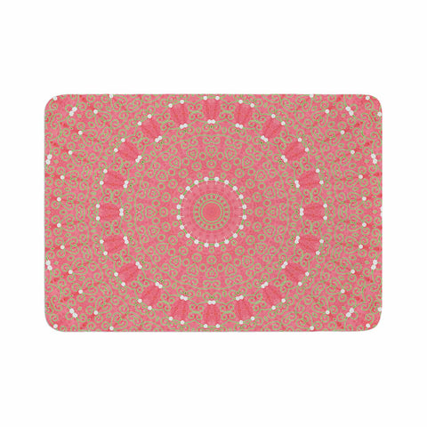 "Sylvia Cook ""Boho Hearts Coral"" Pink Orange Memory Foam Bath Mat - KESS InHouse"