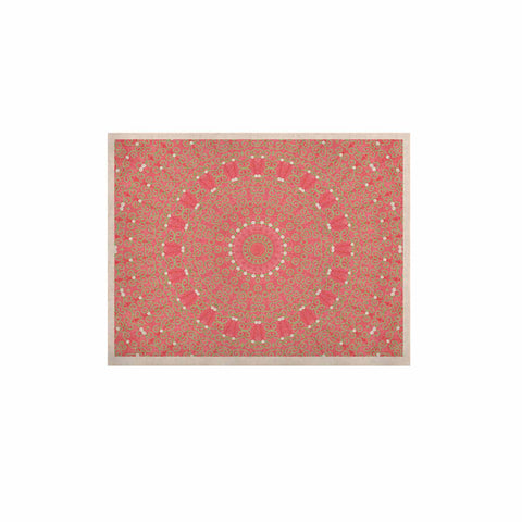 "Sylvia Cook ""Boho Hearts Coral"" Pink Orange KESS Naturals Canvas (Frame not Included) - KESS InHouse  - 1"